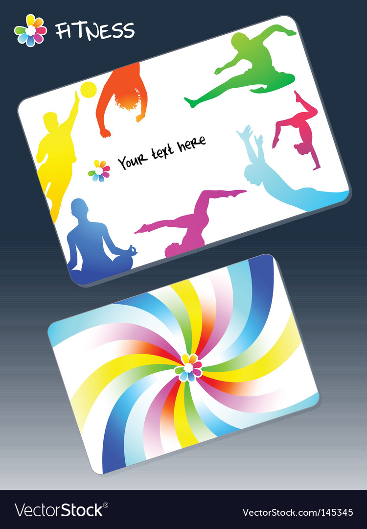 Fitness business card Royalty Free Vector Image