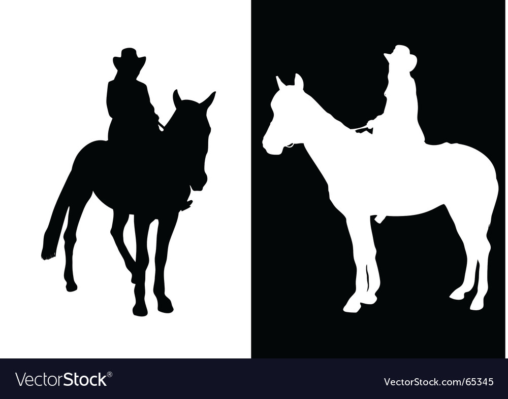 Girl ride on horse vector image