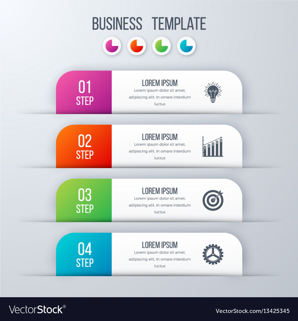 Modern infographics template with 4 options vector image