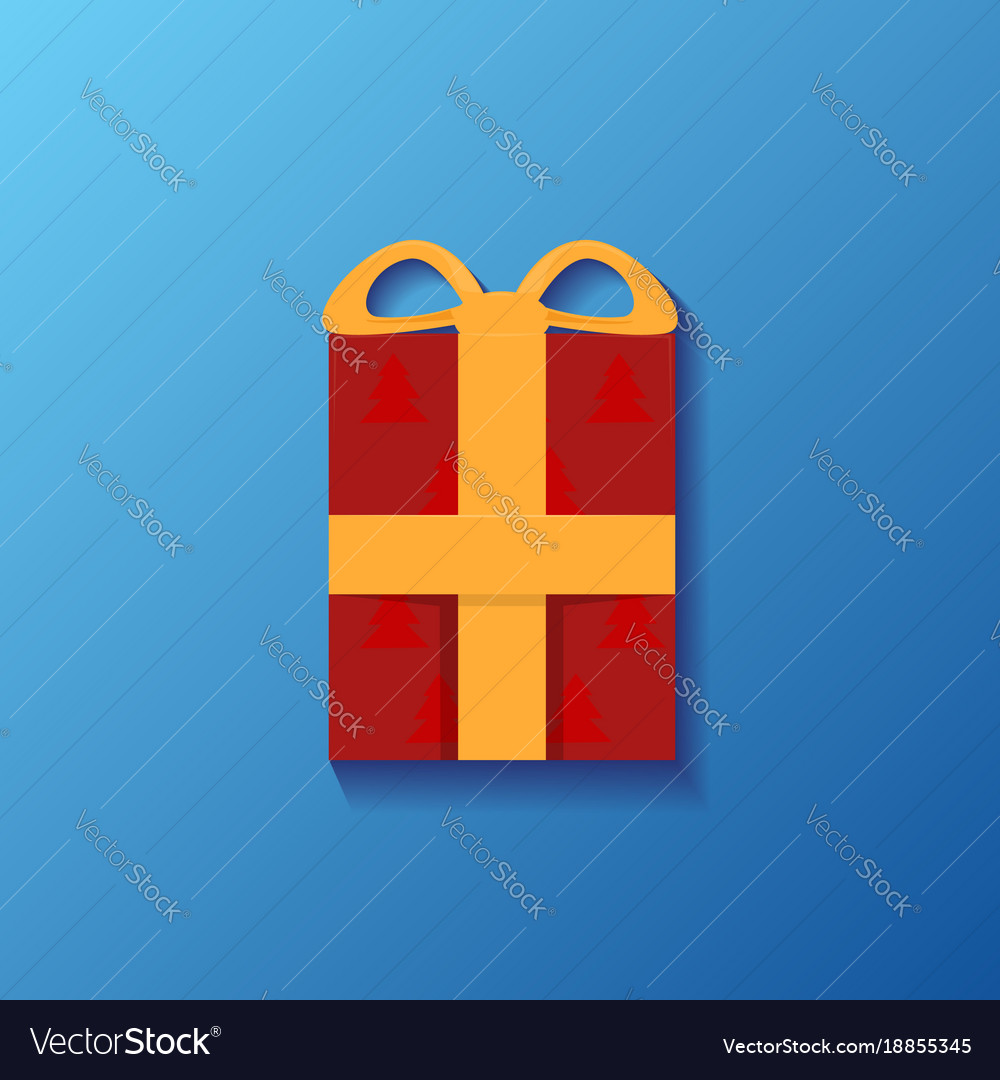 With a festive box and ribbon for your creativity vector image