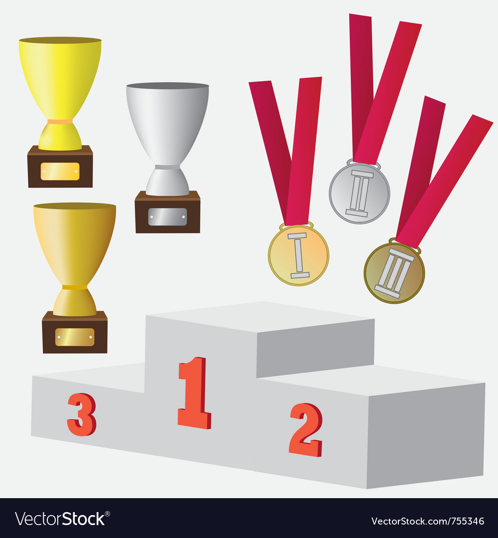 Set of awards vector image