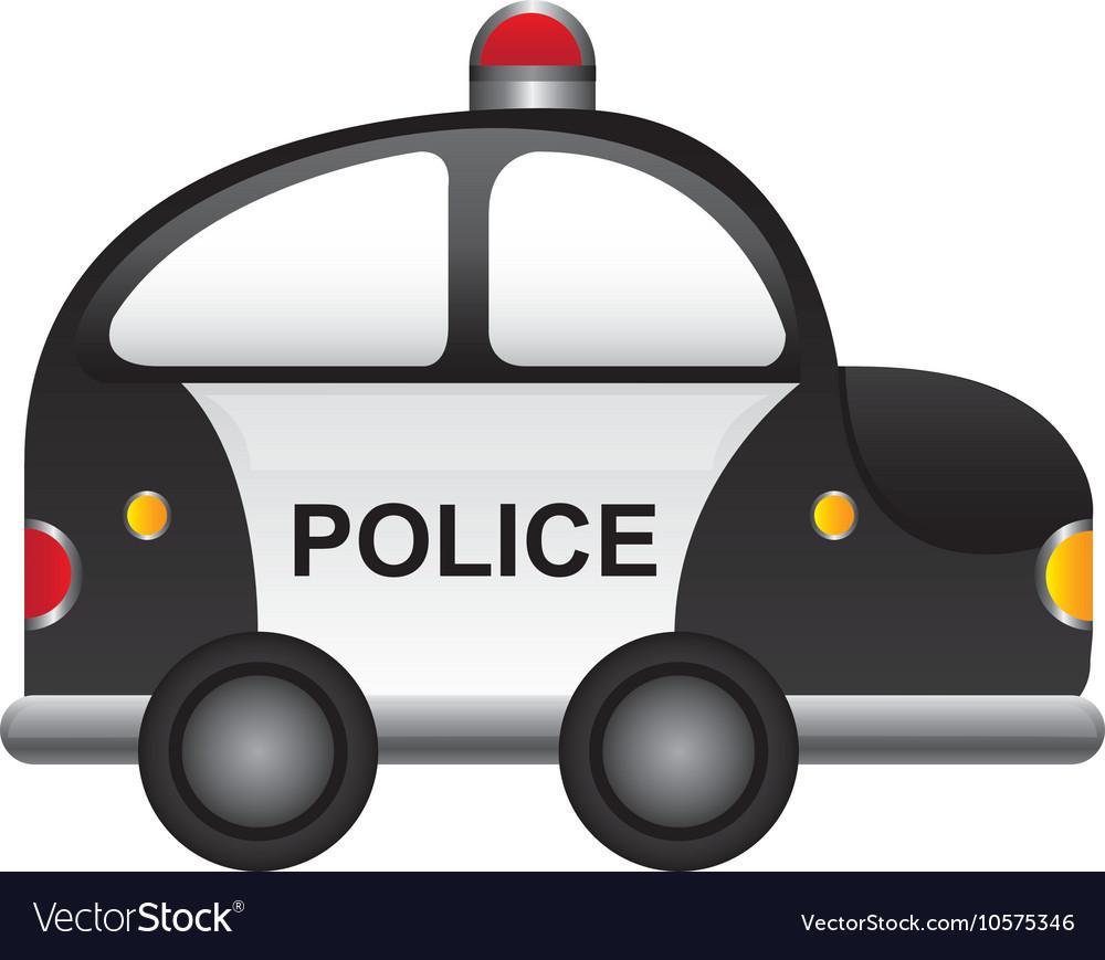 Police patrol vehicle cartoon vector image