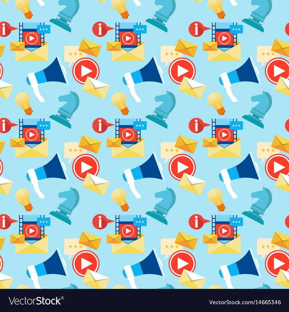 Social media communication blogging seamless vector image