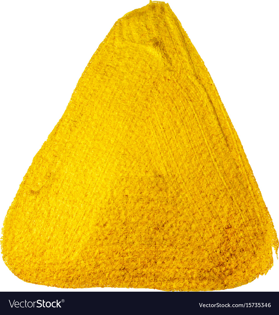 Yellow gold paint triangle vector image