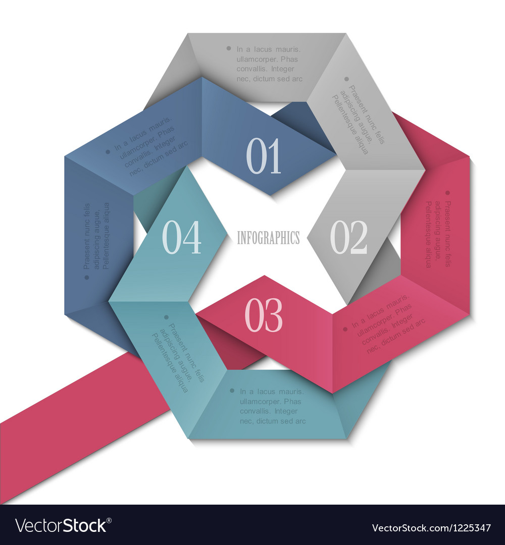 Creative Design template for infographics vector image