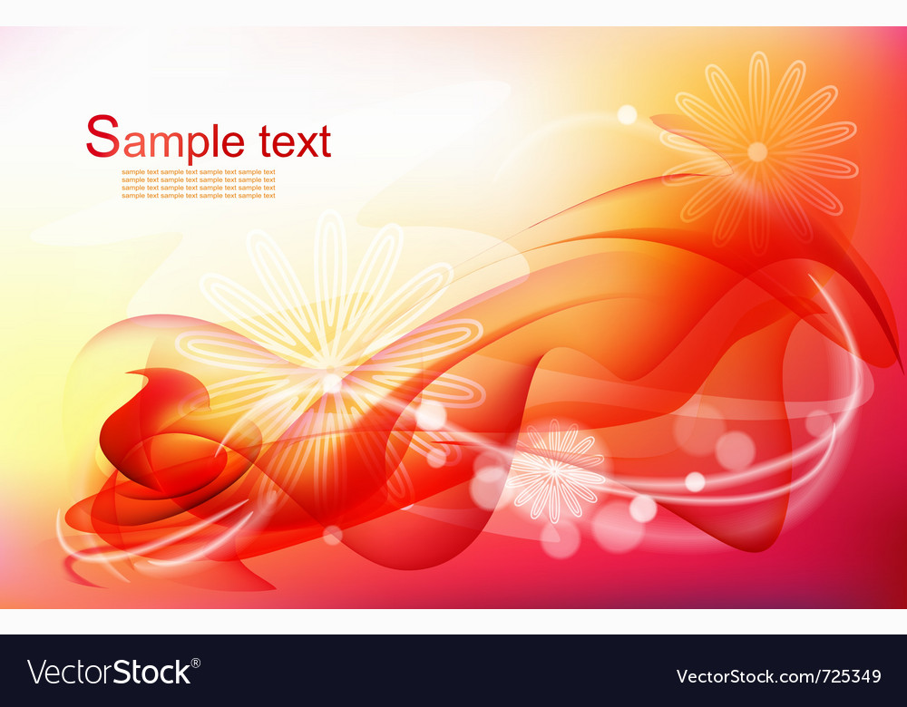 Red abstract c background vector image