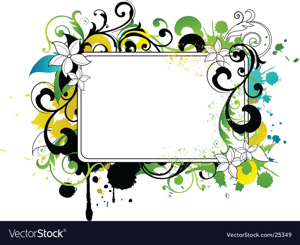 frame border design. Floral Border Frame Vector Image Design