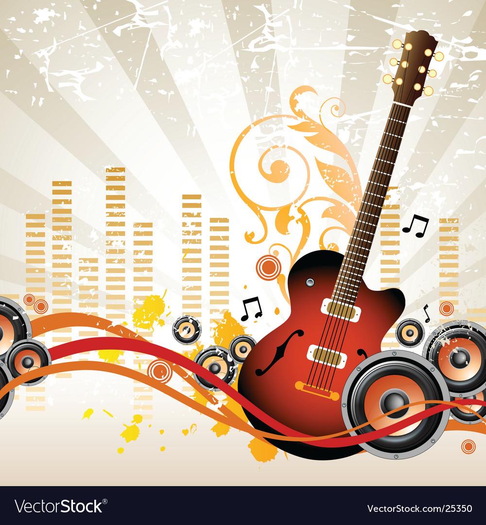 Rock music design vector image