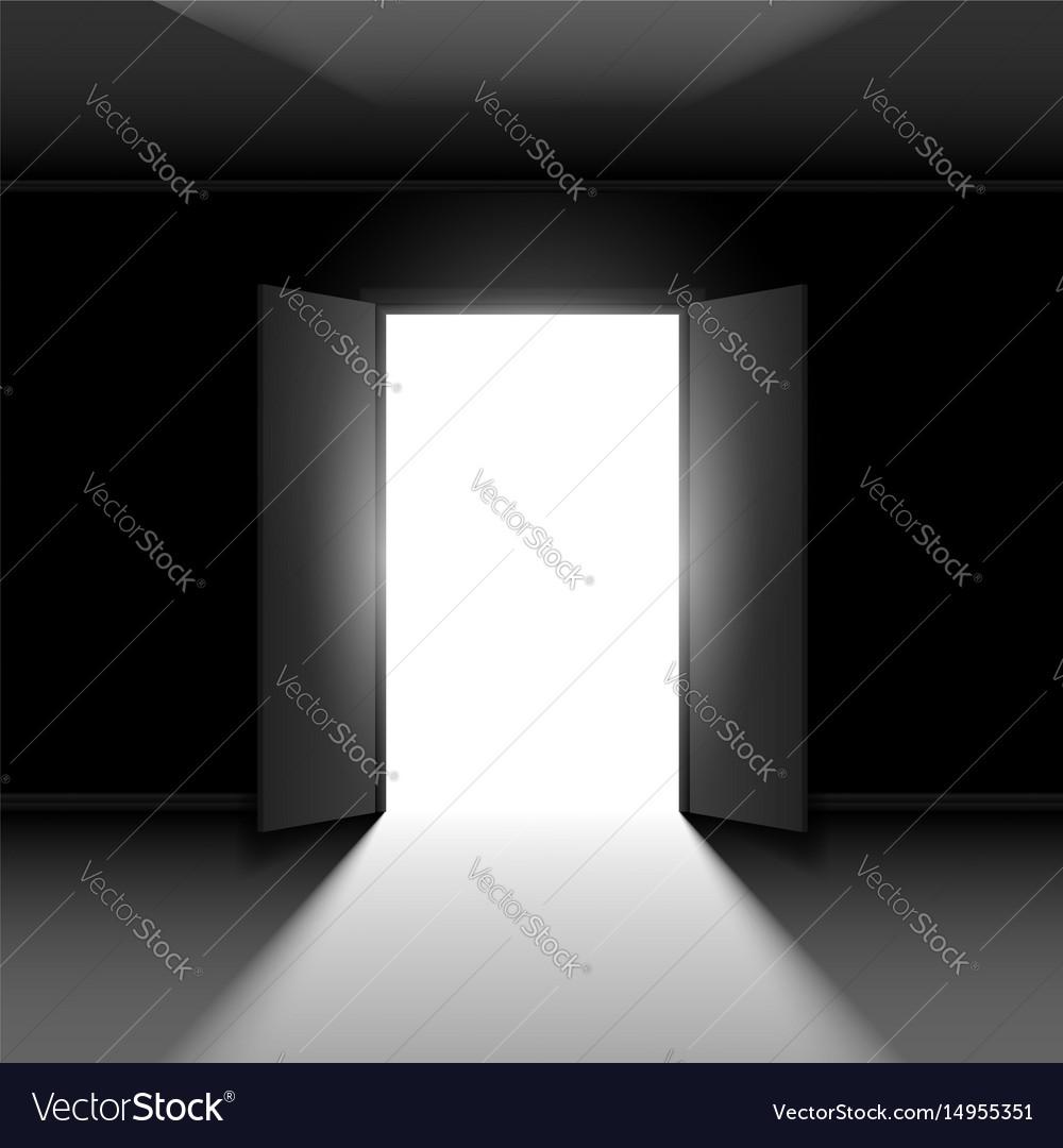 Double open door with ...