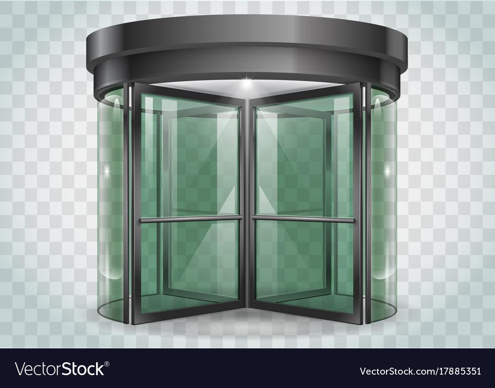 Revolving door shopping center vector image & Revolving door shopping center Royalty Free Vector Image