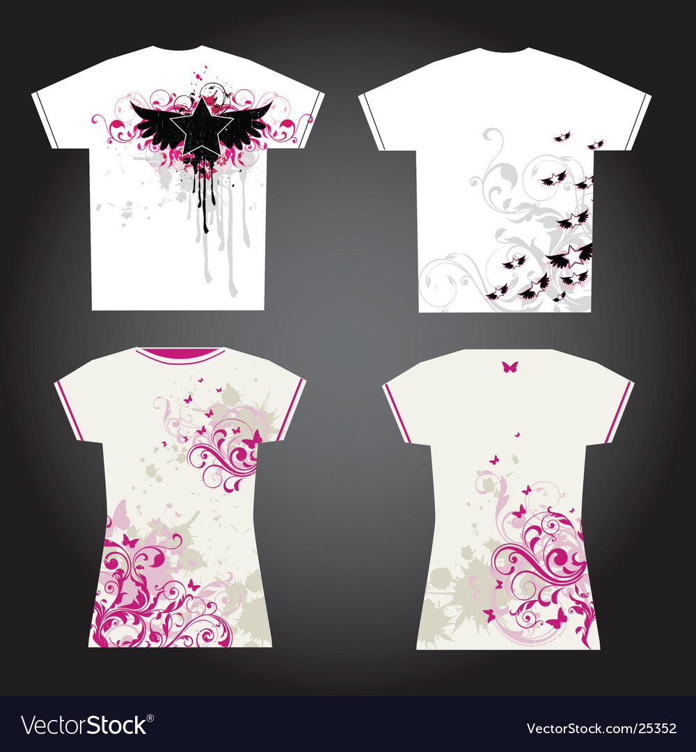 Grunge t-shirt designs vector image