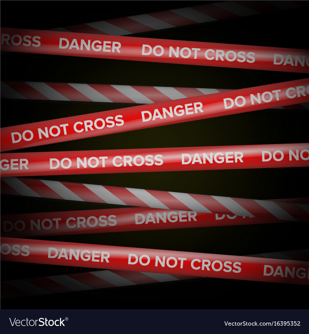 Danger tape red and white lines do not vector image