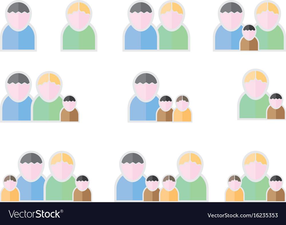 People flat symbols vector image