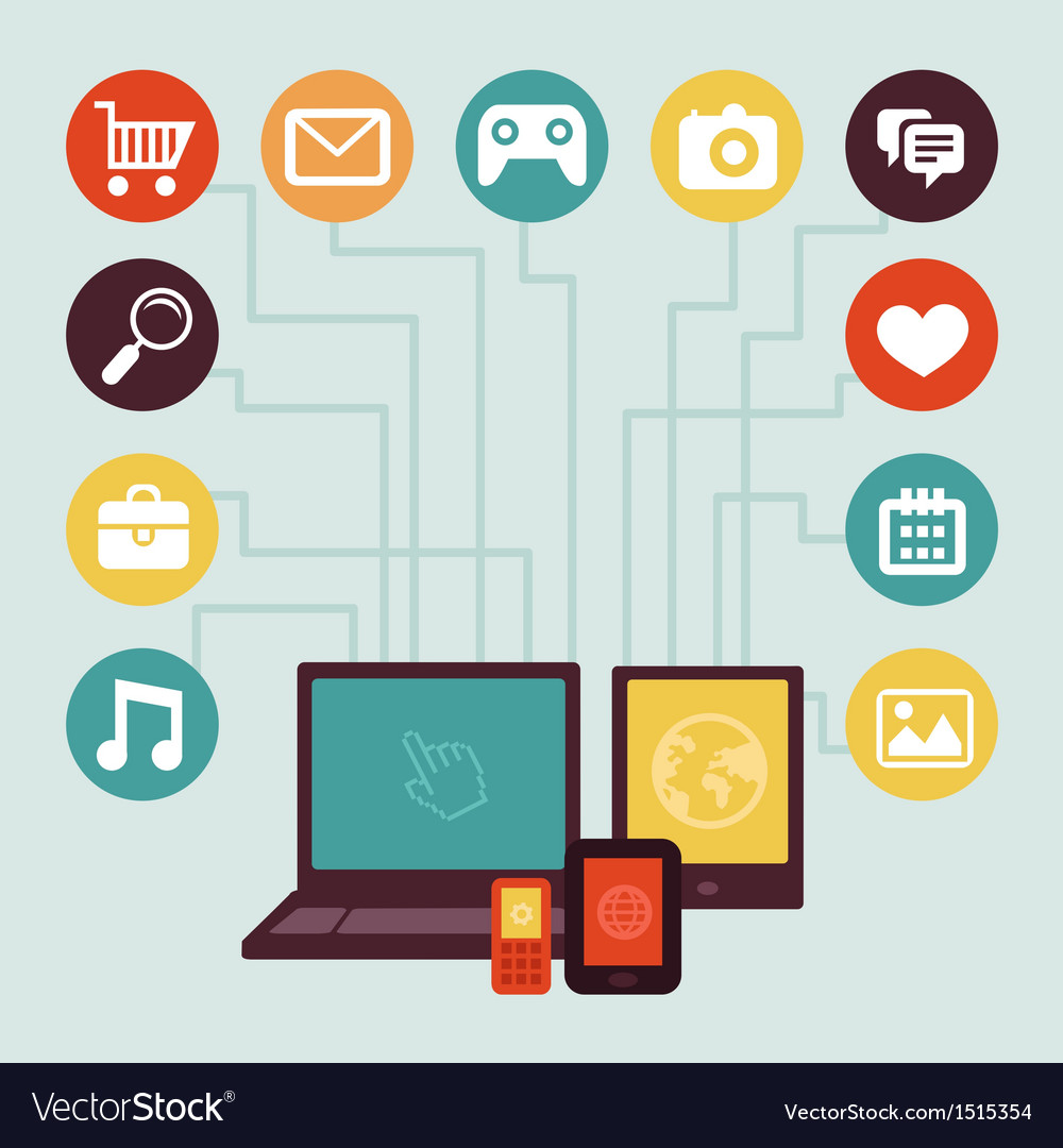 Mobile app development infographics vector image