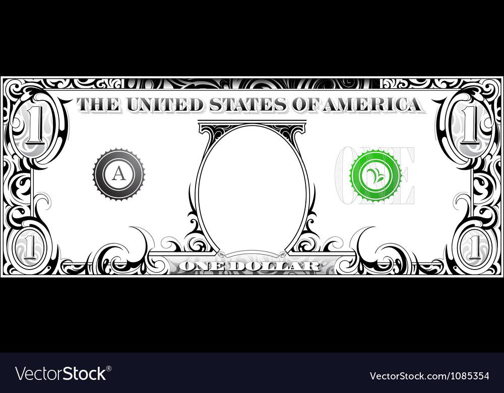 Tribal dollar bill vector image