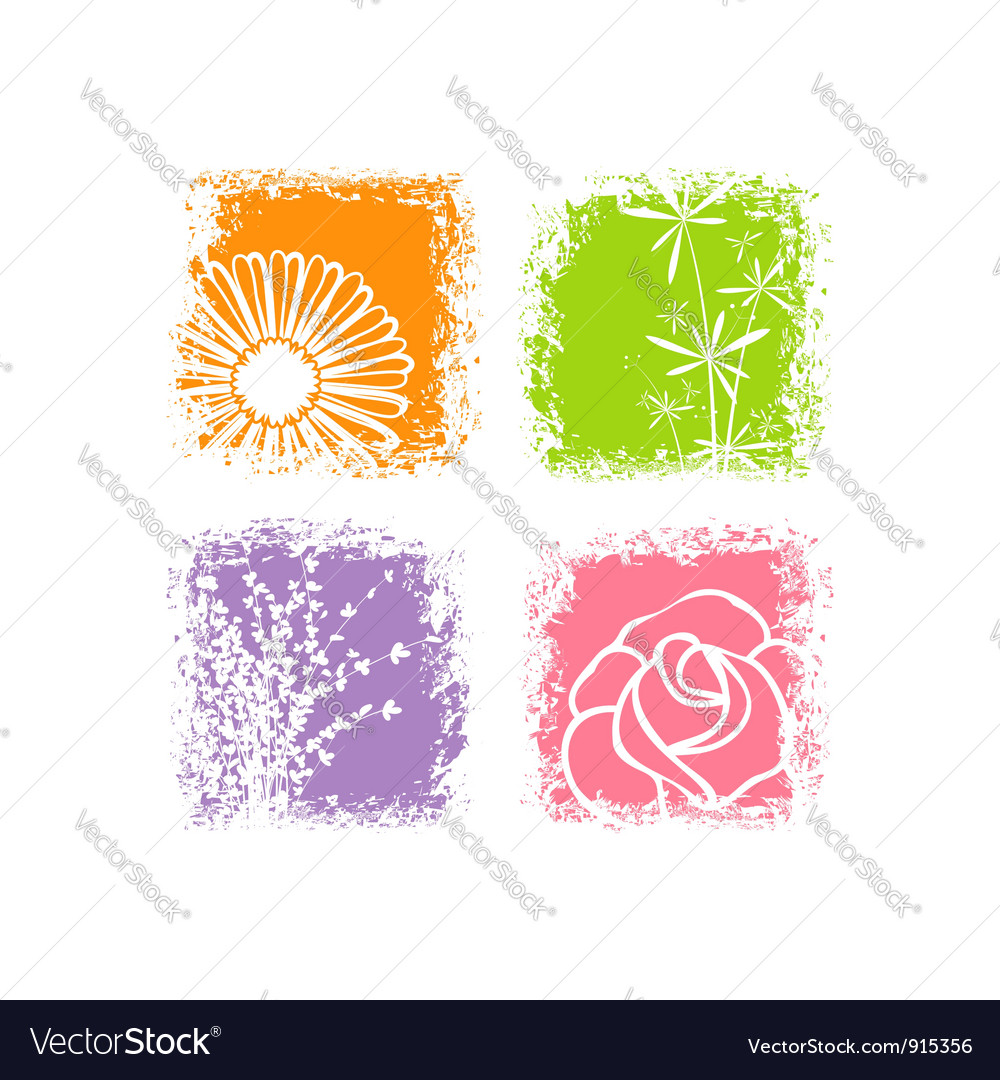 Abstract card design vector image