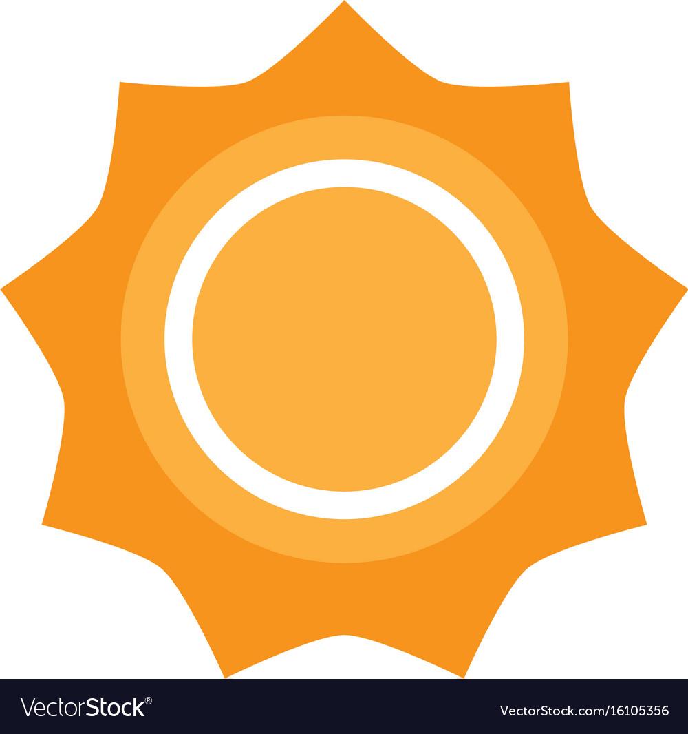 isolated sun icon royalty free vector image vectorstock rh vectorstock com sunflower icon vector sun weather icon vector