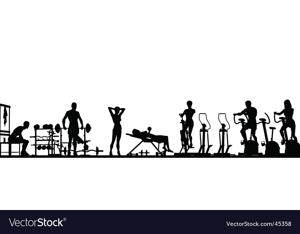 Gym foreground vector image
