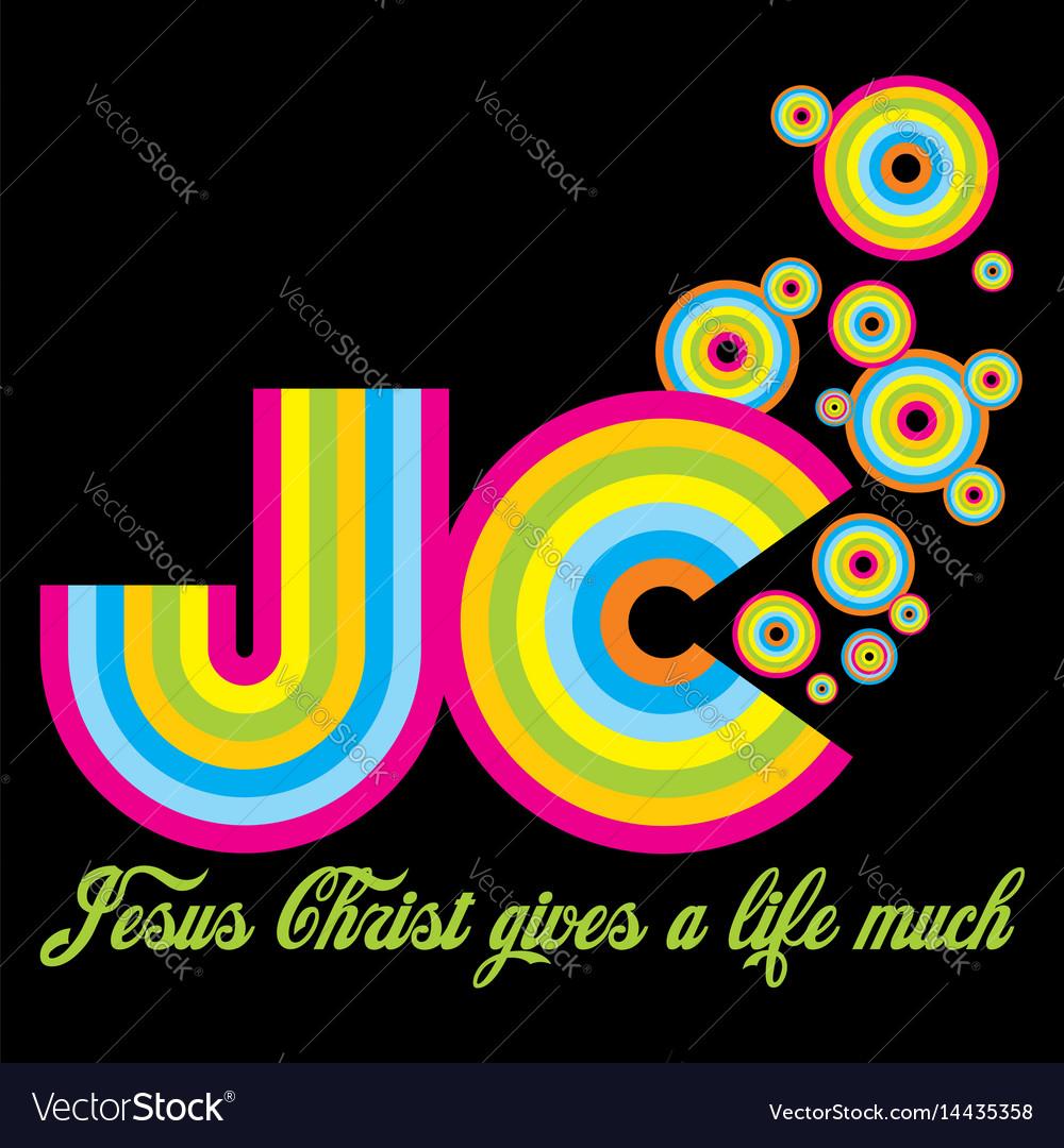 Christian print vector image
