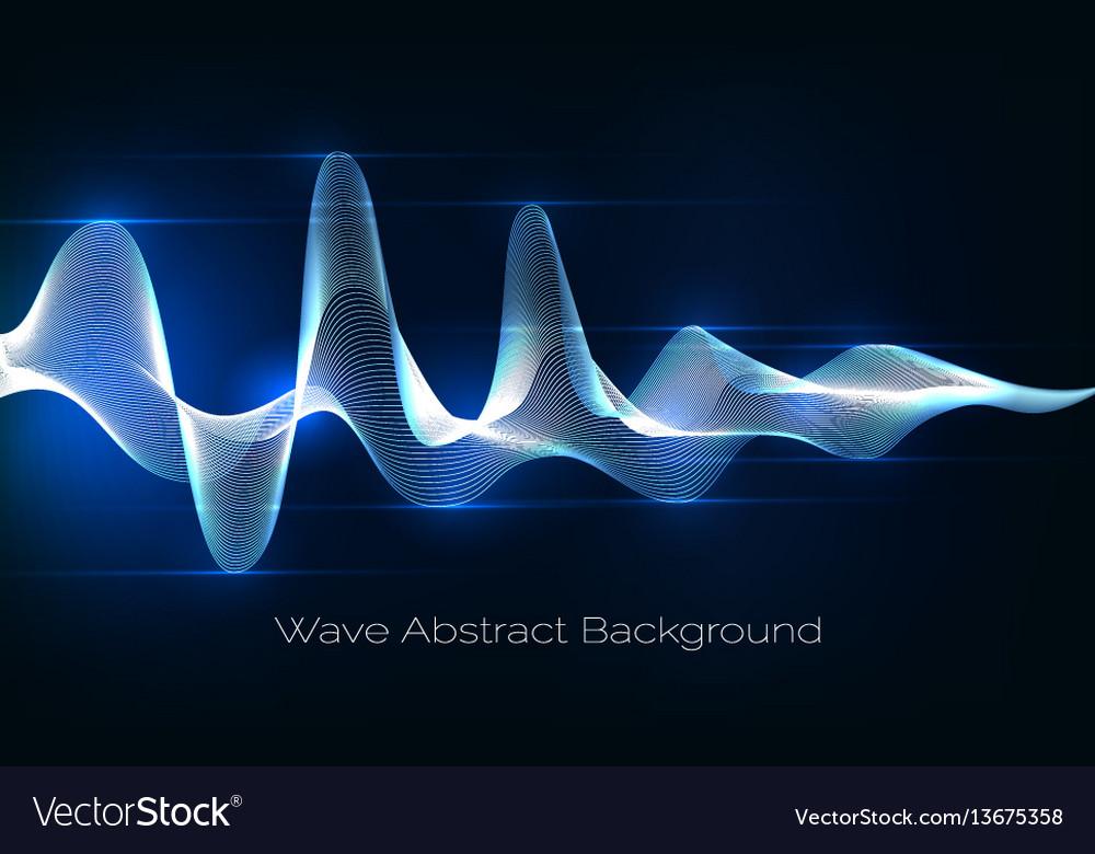 Sound wave abstract background audio waveform vector image