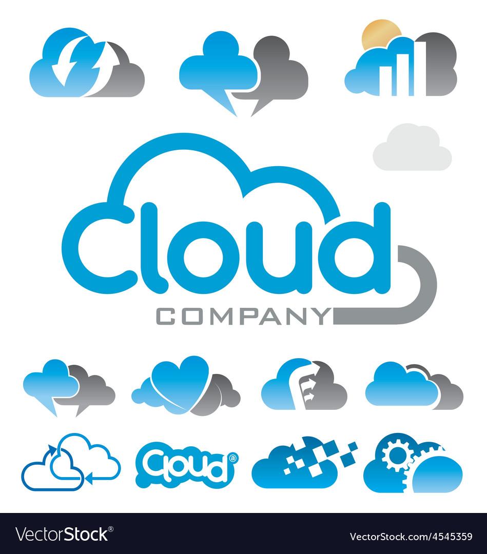 Cloud logo vector image