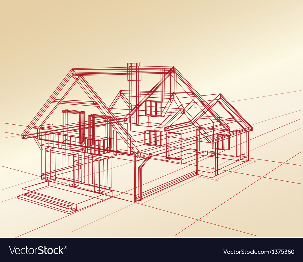 Plan a country house Vector Image