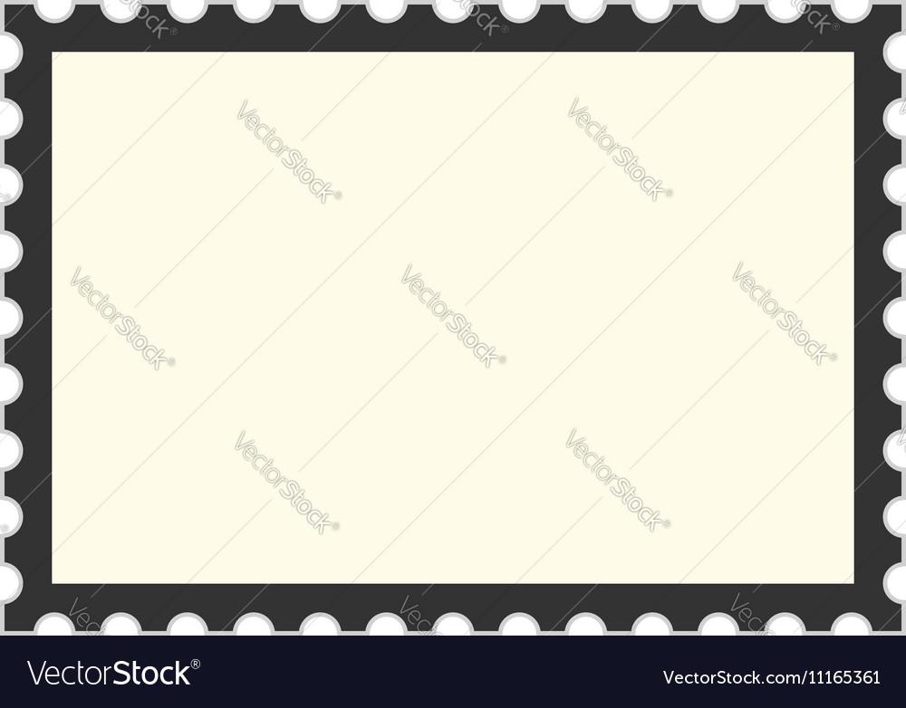 black postage stamp template royalty free vector image. Black Bedroom Furniture Sets. Home Design Ideas