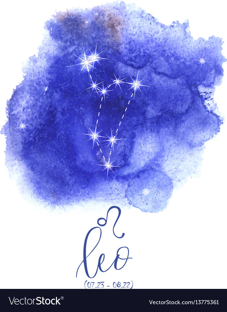 Astrology sign leo vector image