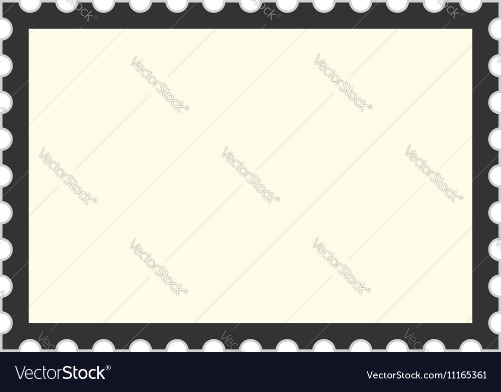 Black Postage Stamp Template Vector Image