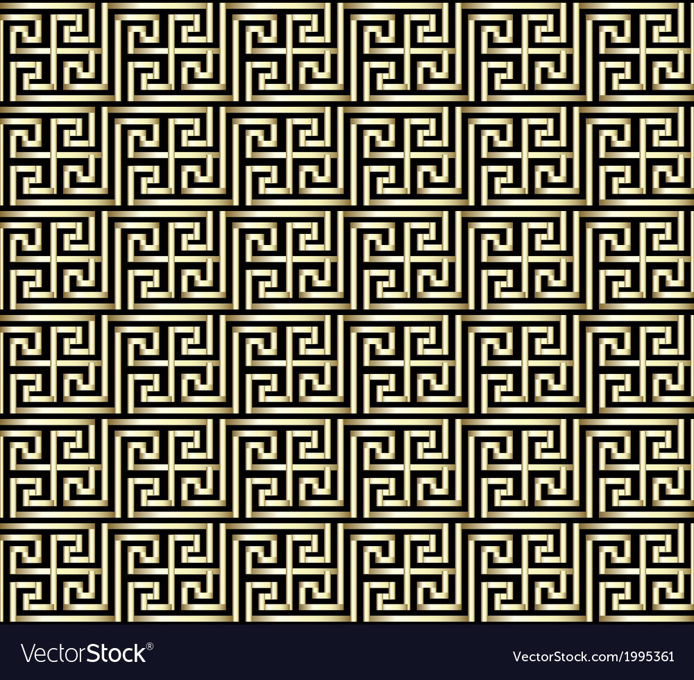 Greek Key Pattern Design vector image