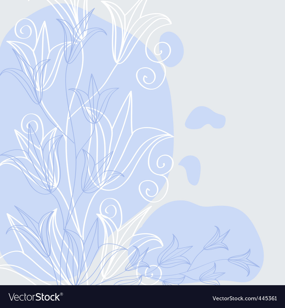 Herbal background vector image
