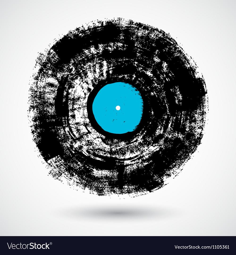 Retro musical grunge vinyl vector image