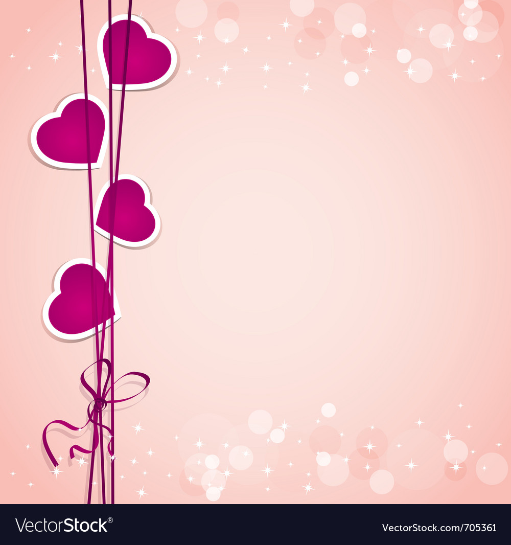valentines hearts background vector image - Pictures Of Valentines Hearts