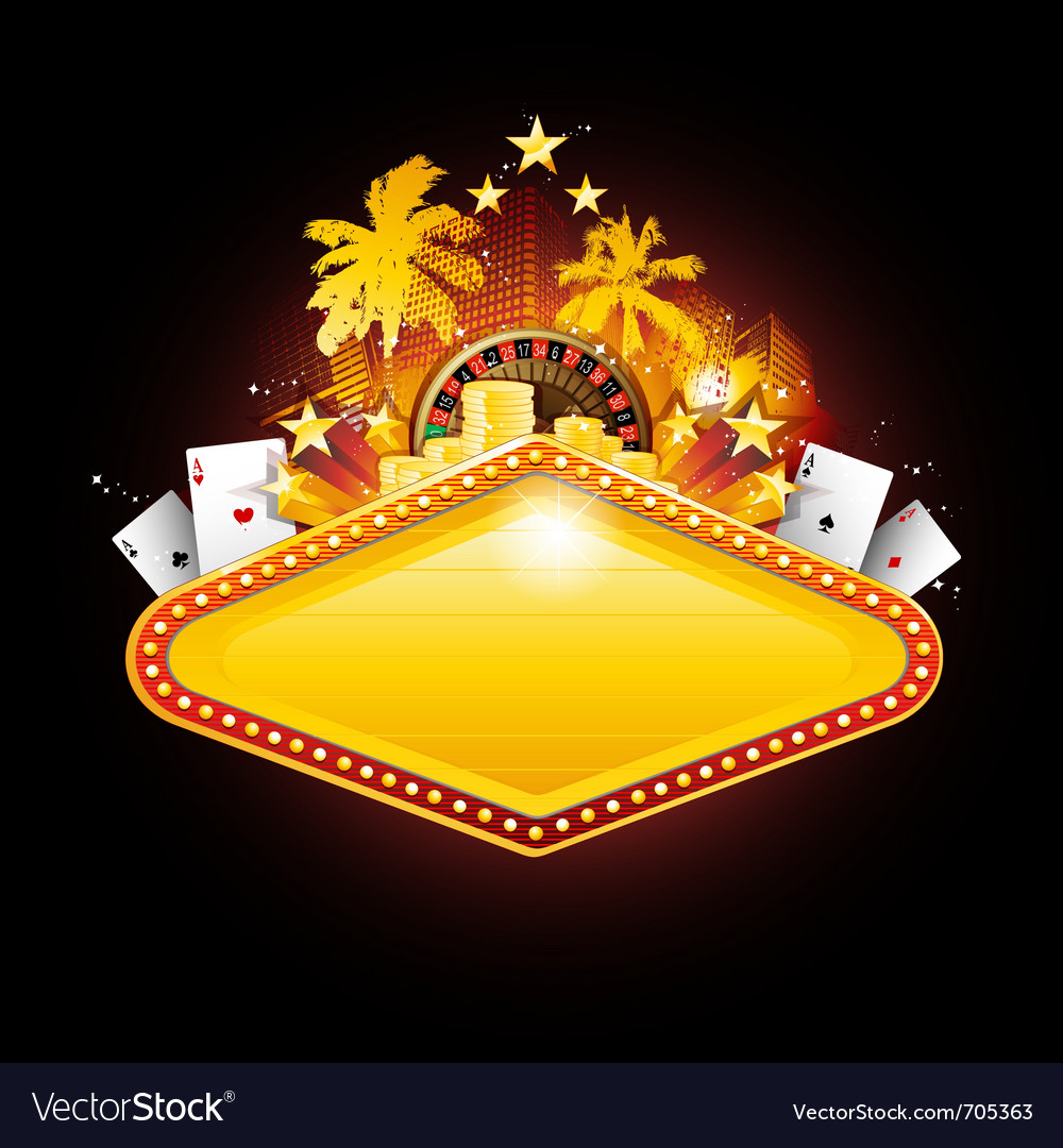 Casino sign vector image