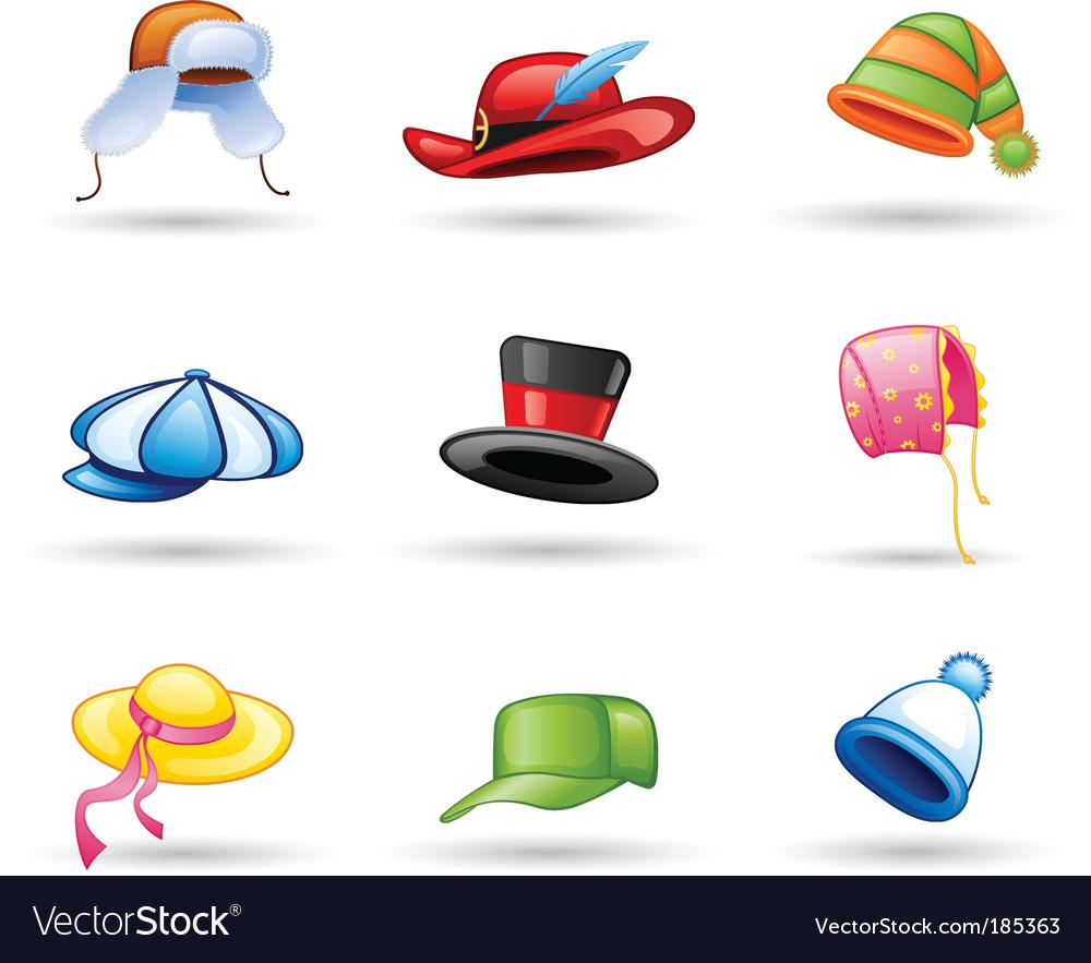 Head wear icon vector image