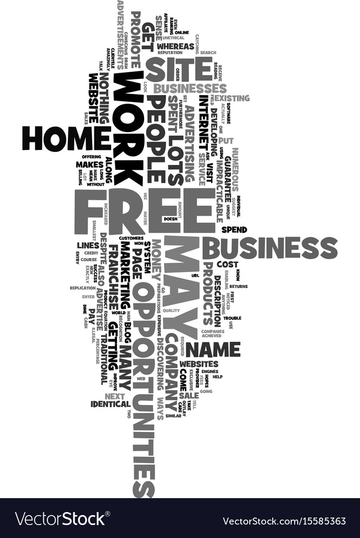 Work at home opportunities for free doesn t mean vector image