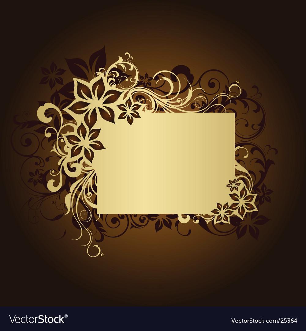 Floral frame page vector image