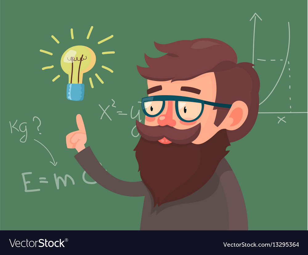 Cartoon character professor vector image
