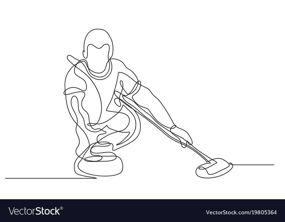 Curling winter sport vector image