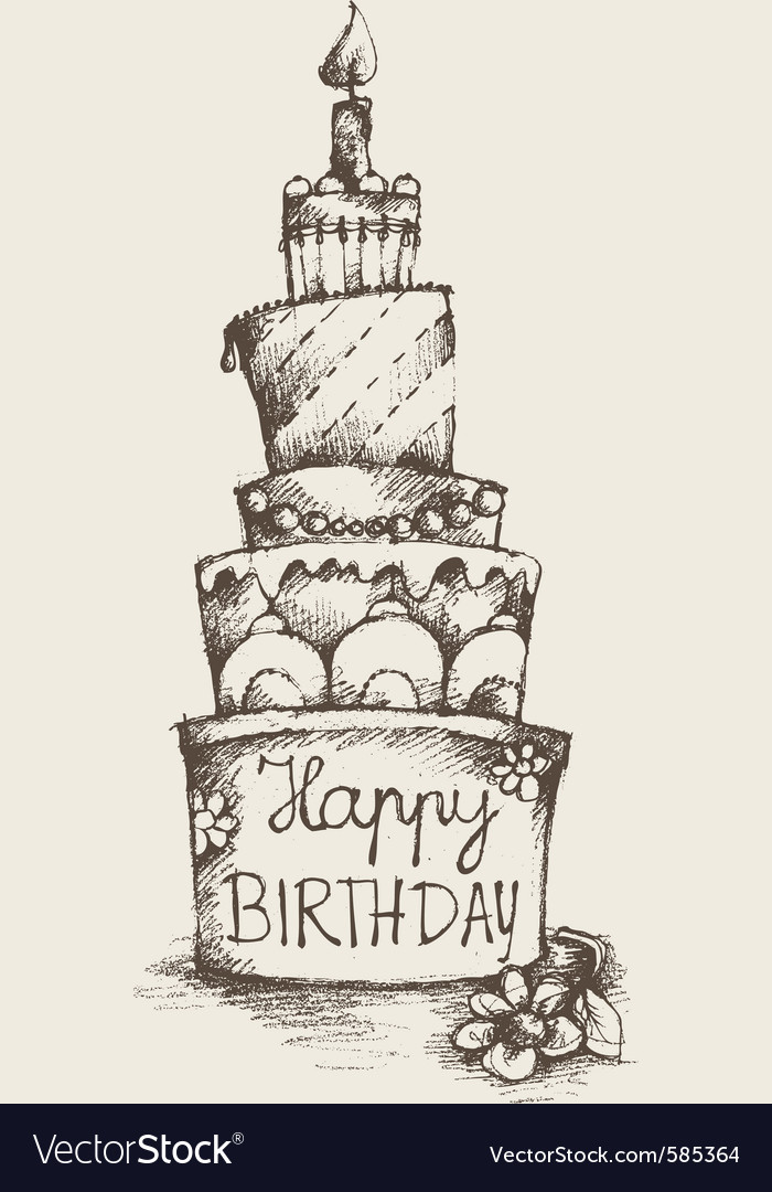 Happy birthday cake royalty free vector image vectorstock happy birthday cake vector image sciox Image collections