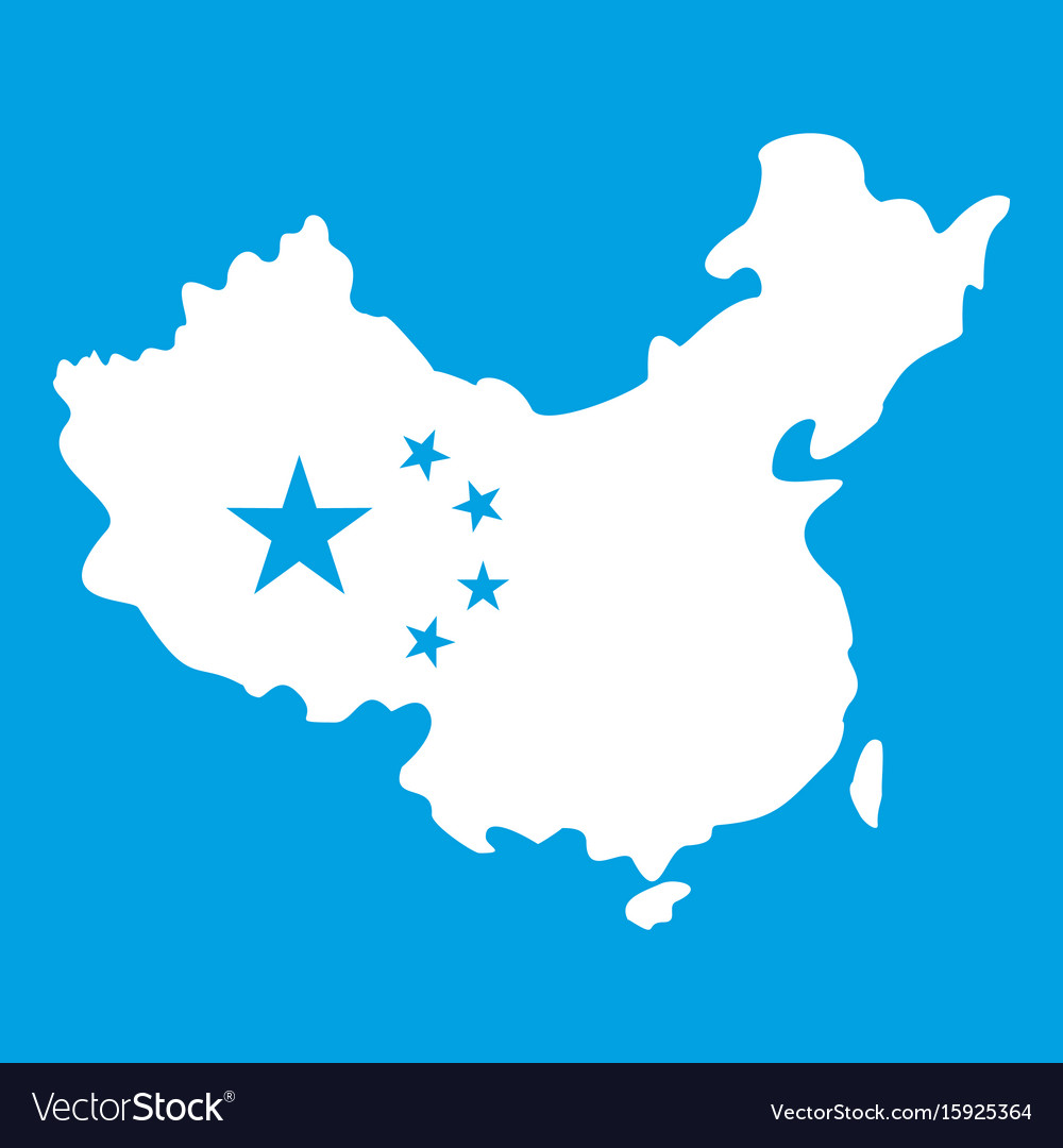 Map of china icon white royalty free vector image map of china icon white vector image gumiabroncs Gallery