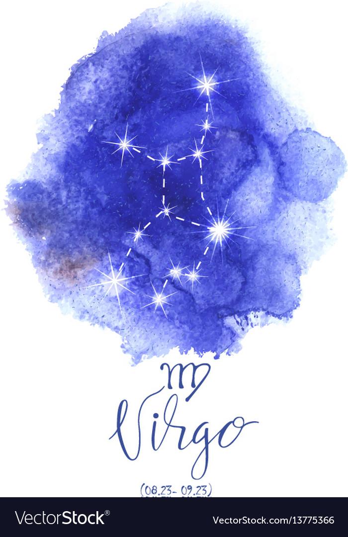 Astrology sign virgo vector image