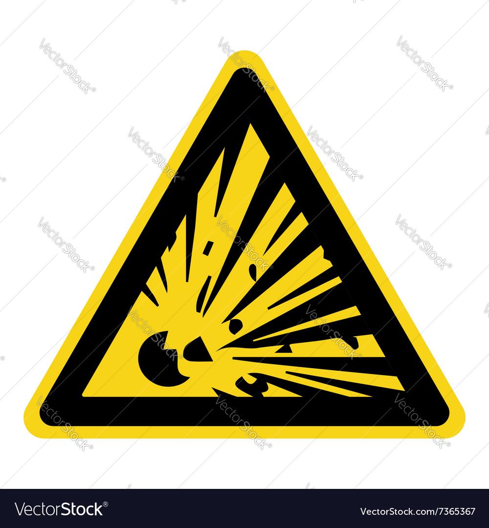 Explosive hazard sign vector image