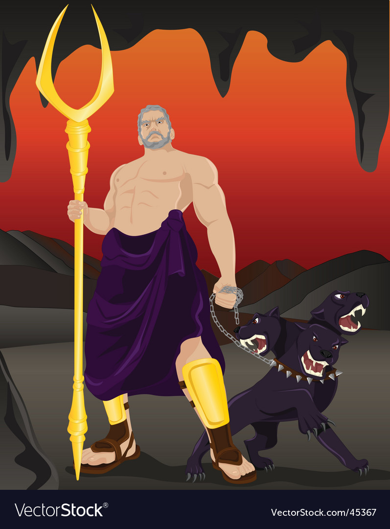 Hades and Cerberus vector image