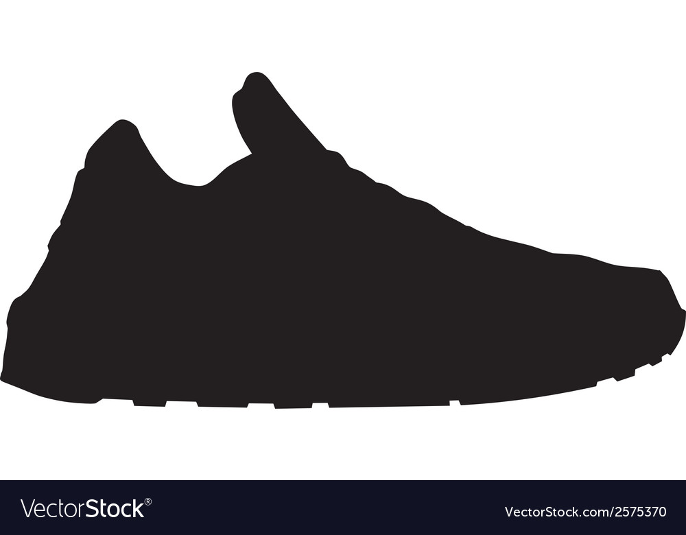 Running shoe - sneaker silhouette Royalty Free Vector Image