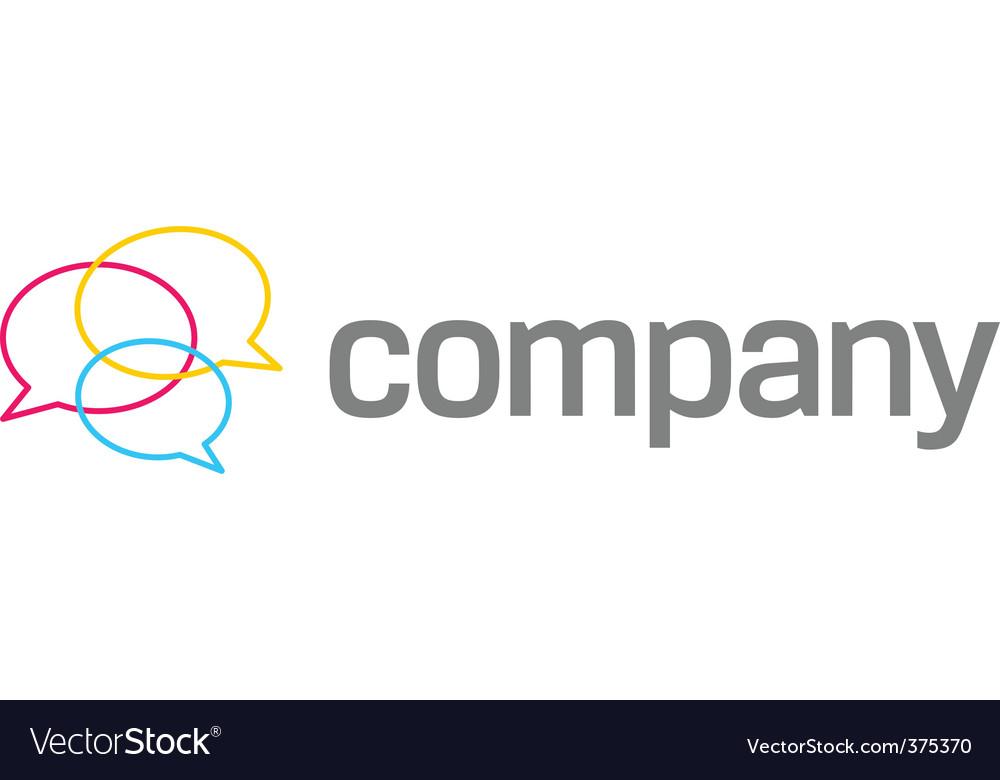 Speach bubbles company logo vector image