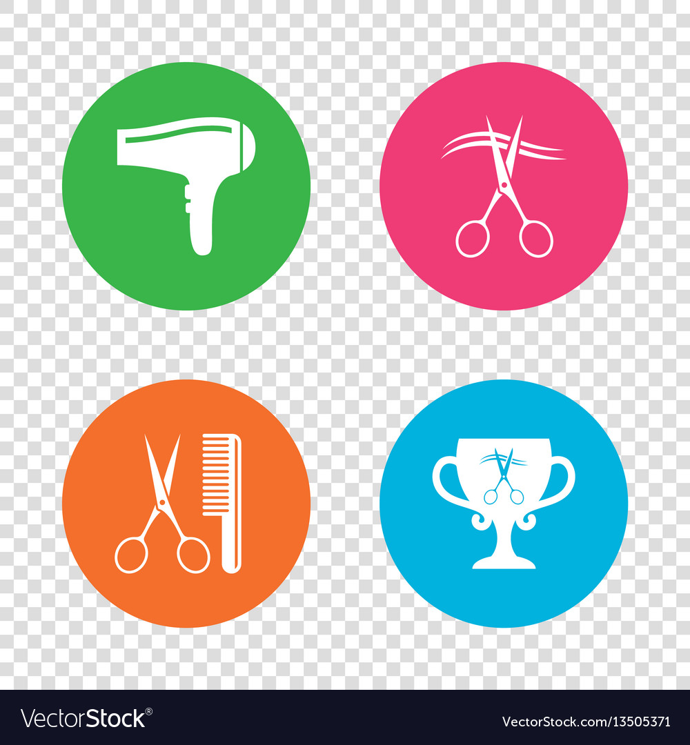 Hairdresser icons scissors cut hair symbol vector image hairdresser icons scissors cut hair symbol vector image biocorpaavc