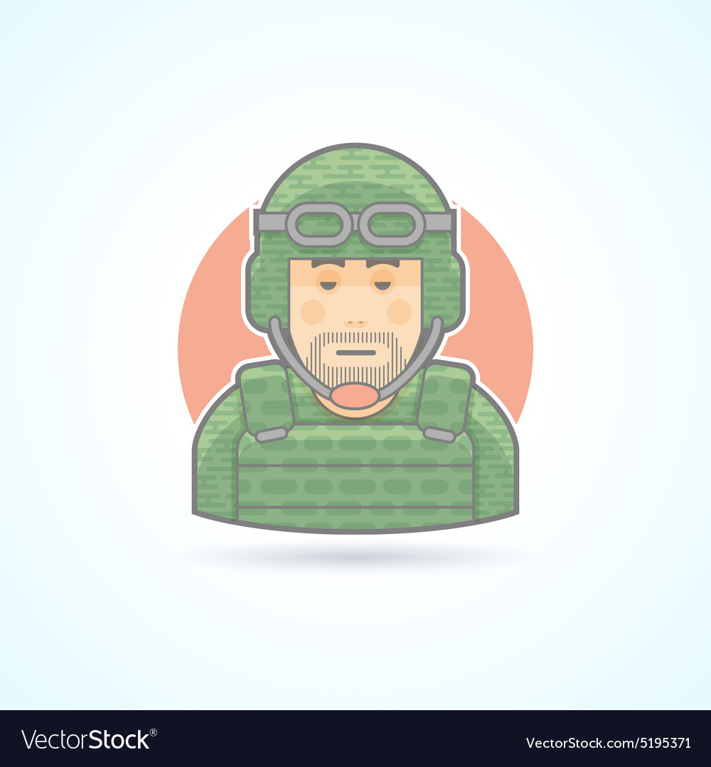 Soldier military man icon Avatar and person vector image