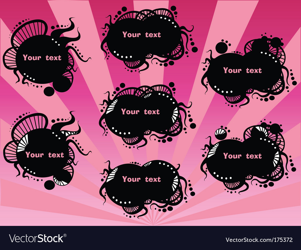 Black badges round vector image