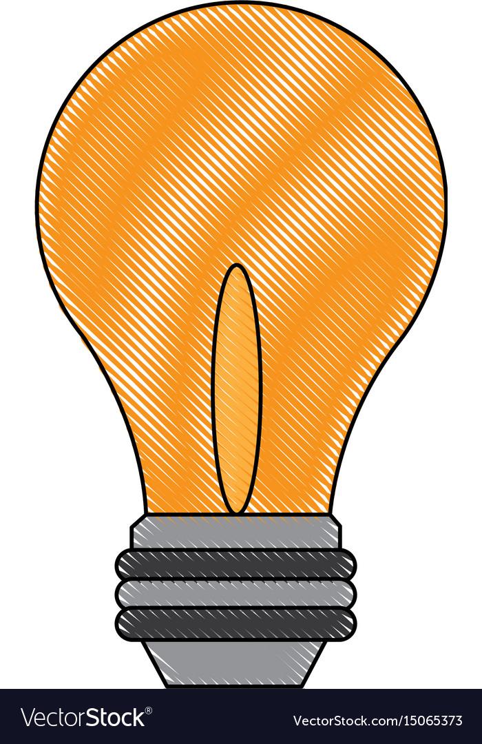 Light bulb - business idea innovation icon vector image
